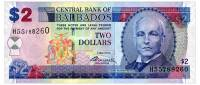 BARBADOS 2 DOLLARS 2012 Pick 66 Unc - Barbados