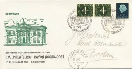 Regionale Postzegel-tentoonstelling Groningen - Met Adres / Open Klep (1967) - Covers & Documents