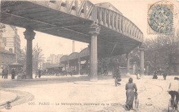 ¤¤  -  400   -   PARIS   -  Le Métropolitain, Boulevard De La Vilette  -  Train   -   ¤¤ - Arrondissement: 19