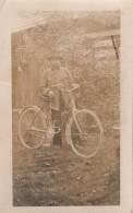 Carte Photo Originale Vélo - Un Vieux Et Son Vélo - Bicyclette, Chapeau & Moustache - - Cyclisme