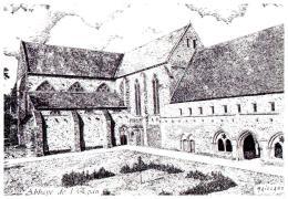 CPA LE MANS , Illustrateur MAILLARD  , L'abbaye De L'épau - Illustrateurs & Photographes