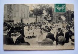 CHANTILLY  (60) -  BOUQUET PROVINCIAL ( 14 Juin 1908 ) - Tir à L´arc - Jeunes Filles Costumées - Tir à L'Arc