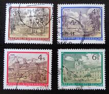 ABBAYES ET MONASTERES D'AUTRICHE 1984 - OBLITERES - YT 1596 + 1607 + 1620/21 - 1945-.... 2ème République