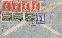 17723. Carta Aerea GUAYAQUIL (Ecuador) 1937 To USA.  Colon - Ecuador
