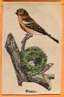 MAI058, Pinson, Nid, Oeufs, Circulée 1937 Cachet Villégiature En Suisse - Vogels