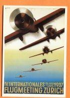 MAI062, Repro, IV. Internationales Flug Meeting Zürich 1937, GF, 1434, Non Circulée - Ohne Zuordnung