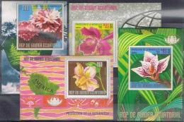 K 121 REP DE GUINEA ECUATORIAL  XX  BLOKKEN THEMA BLOEMEN  ZIE SCAN - Orchidées