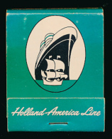 Pochette D´allumettes : Holland America Line, USA, Canada, Ireland, France, England (3 Scans) Paquebot, Transatlantique - Matchboxes