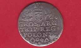 Pologne 3 Groschen 1594 Argent - Pologne