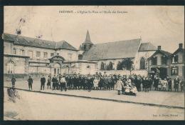FREVENT - L'Eglise St Wast Et L'Ecole Des Garçons - Frankrijk