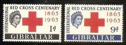 1963 Gibilterra Gibraltar CROCE ROSSA  RED CROSS Serie Di 2v. MNH** E - Gibilterra