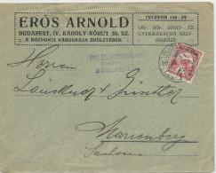HONGRIE - 1915 - ENVELOPPE De BUDAPEST Avec CENSURE Pour PLESS (SILESIE) - Marcophilie