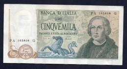 5000 Lire Colombo 11- 04-1973 - [ 2] 1946-… : Repubblica