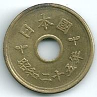 Japan  5 Yen Hirohito Y#72    Yr. 25 (1950) - Giappone