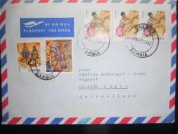 Zambie , Lettre De Solwezi 19883 Pour Ibach - Zambie (1965-...)