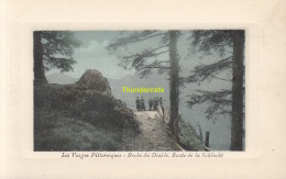 CPA 88 LES VOSGES PITTORESQUES EDIT. THEVENON  ROCHE DU DIABLE ROUTE DE LA SCHLUCHT - France