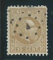 INDE NEERLANDAISE: Obl., N°10a(B), B - Niederländisch-Indien