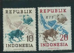 INDE NEERLANDAISE ( Indonésie ): *, VIGNETTES, 2 Ex. 75ème Anniv. UPU, TB - Indonesia