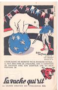 Buvard  La Vache Qui Rit, Fromageries Bel. Dessin De Alain Saint Ogan. Ours, Cirque Dressage. - Buvards, Protège-cahiers Illustrés