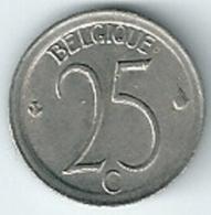 Belgium Belgique Belgie Belgio 25 Cents FR KM#153.1  1971 - 1951-1993: Baldovino I