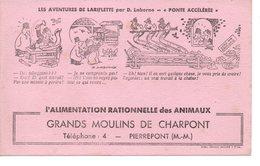 Buvard  Grands Moulins De Charpont, Alimentation Des Animaux. Illustration : Les Aventures De Lariflette Par D.Laborne, - Animaux