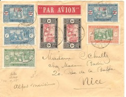Senegal, 1926, Dakar To Nice, 7 Timbre, Par Avion,  Voir Scans! - Senegal (1887-1944)