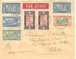 Senegal, 1926, Dakar To Nice, 7 Timbre, Par Avion,  Voir Scans! - Sénégal (1887-1944)
