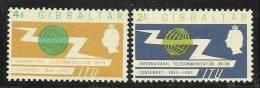 1965 Gibilterra Gibraltar UIT - ITU Serie (165-66) MNH** U.I.T. - I.T.U. - Scienze