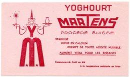 Buvard  Yoghourt Martens, Procédé Suisse. Lait, Laitage, Yaourt. - Leche