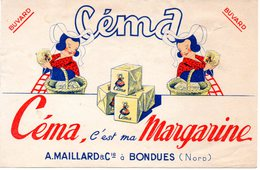 Buvard  Céma, C'est Ma Margarine. Maillard à Bondues, Nord. - Buvards, Protège-cahiers Illustrés