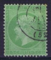 France:  Yvert Nr 15  Used/obl. 1853  Vert Sur Bleu - 1870 Siege Of Paris