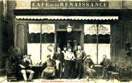Z Z  877 /  C P A  LISIEUX  (14)  CAFE DE LA RENAISSANCE  CAFE J. SURTOUQUES PLACE FOURNET - Lisieux