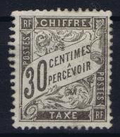 France:  Yvert Nr  Tax 18 MH/* Charniere - 1859-1955 Postfris