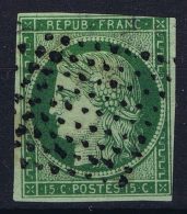 France:  Yvert 2 B  2b  Gros Point , 1849 - 1850 - 1849-1850 Cérès