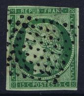 France:  Yvert 2 B  2b  Gros Point , 1849 - 1850 - 1849-1850 Ceres