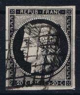 France:  Yvert 3 Grille, 1849 - 1850 - 1849-1850 Ceres