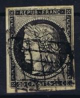 France:  Yvert 3b Chamois  Grille, 1849 - 1850  Signe - 1849-1850 Ceres