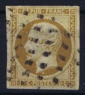 France:  Yvert  9 Obl Used  Very Light Fold But No Thin Spots Ne Pas Lieu Mince - 1852 Luigi-Napoleone