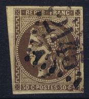 France:  Yvert  47 D Brun Foncé  2 Obl Used   GC 2145 - 1870 Emission De Bordeaux