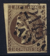 France:  Yvert  47 D Brun Foncé  2 Obl Used   GC 2145 - 1870 Uitgave Van Bordeaux