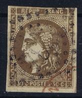 France:  Yvert  47 A 2 Obl Used   Cachet Rouge - 1870 Uitgave Van Bordeaux