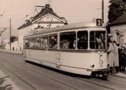 Carte Photo Originale Train - Métro - Métro-bus - Tramway N°3 - Munich Re - Münchener Rück - - Eisenbahnen
