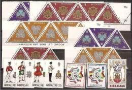 1973 1976 Gibilterra Gibraltar 11 SERIE: 292/93+316/19+320/22(x8)+ 337 MNH** - Gibilterra