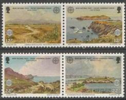 Isle Of Man 1986 Mi 307 /8 + 309 /0 YT 302 /3 + 304 /5 ** Manx National Trust - Nature And Environmental Protection - Isla De Man