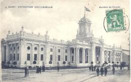 BELGIQUE - BELGIE - FLANDRE ORIENTALE - GAND - GENT - 1913 - Pavillon Du Canada - Expo Universelle - Gent
