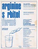 GRAND BUVARD  ARGININE SORBITOL FERME AMPOULES  ****   A   SAISIR **** - Droguerías
