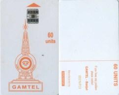 Telefonkarte Gambia -  60 Units - Gamtel