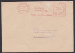 Burladingen (Hohenzollern) 1951 AFS =020= Trikotagen Johann Mayer, NO-Marke Abgerissen, Da Nicht  Gestattet In Die DDR - Covers & Documents
