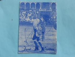 CORRIDA - Autographe - José M. Cortes - Corrida