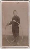 CDV Photo Originale XIX ème Enfant Nommé Grand Cerceau Par Raymond Tarare Cdv716 - Old (before 1900)
